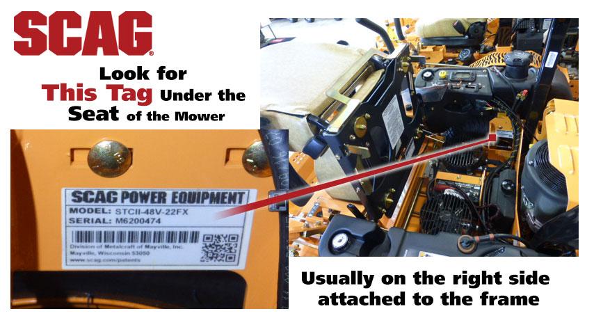 Find Your Scag Mower Model Number | ScagParts com
