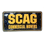 Scag License Plate (Black with Orange) 37-17
