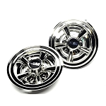 Scag 8 inch Chrome Wheel Covers (set of 2) 48 inch, 52 inch Freedoms (some WBs) 920H