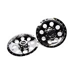 Scag 12 inch Chrome Wheel Covers (set of 2) Cats, Cheetahs & Tigers 920J