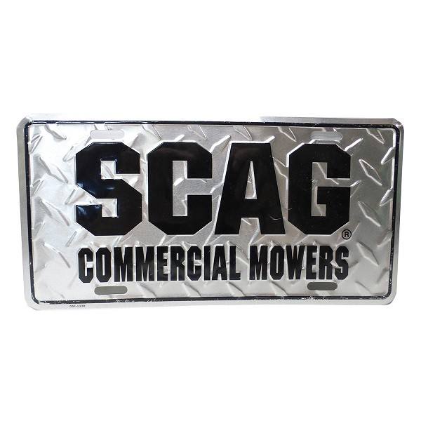 Scag License Plate (Silver with Black) 37-74